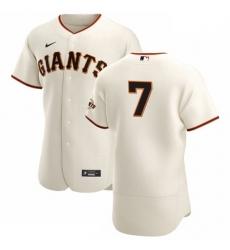 San Francisco Giants 7 Donovan Solano Men Nike Cream Home 2020 Authentic Player MLB Jersey