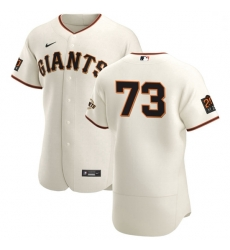 San Francisco Giants 73 Caleb Baragar Men Nike Cream Home 2020 Authentic 20 at 24 Patch Player MLB Jersey