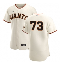 San Francisco Giants 73 Caleb Baragar Men Nike Cream Home 2020 Authentic Player MLB Jersey