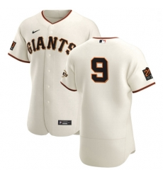 San Francisco Giants 9 Brandon Belt Men Nike Cream Home 2020 Authentic 20 at 24 Patch Player MLB Jersey
