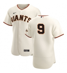 San Francisco Giants 9 Brandon Belt Men Nike Cream Home 2020 Authentic Player MLB Jersey