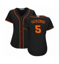 Women's San Francisco Giants #5 Mike Yastrzemski Authentic Black Alternate Cool Base Baseball Player Jersey