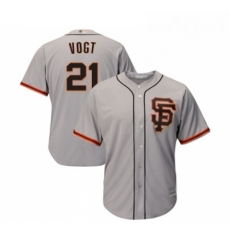 Youth San Francisco Giants 21 Stephen Vogt Replica Grey Road 2 Cool Base Baseball Jersey