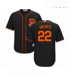 Youth San Francisco Giants 22 Yangervis Solarte Replica Black Alternate Cool Base Baseball Jersey