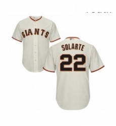 Youth San Francisco Giants 22 Yangervis Solarte Replica Cream Home Cool Base Baseball Jersey