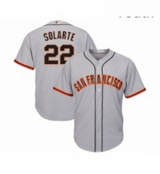 Youth San Francisco Giants 22 Yangervis Solarte Replica Grey Road Cool Base Baseball Jersey