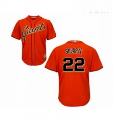 Youth San Francisco Giants 22 Yangervis Solarte Replica Orange Alternate Cool Base Baseball Jersey