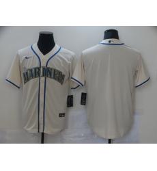 Men Nike Seattle Mariners Cream Stitched MLB Blank Cool Base Nike Jersey