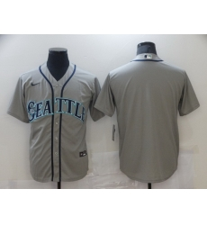 Men Nike Seattle Mariners Grey Stitched MLB Blank Cool Base Nike Jersey