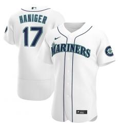 Men Seattle Mariners 17 Mitch Haniger Men Nike White Home 2020 Flex Base Player MLB Jersey
