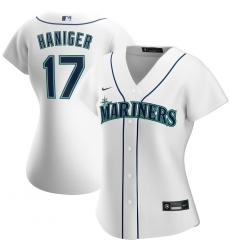 Seattle Mariners 17 Mitch Haniger Nike Women Home 2020 MLB Player Jersey White