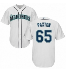 Youth Majestic Seattle Mariners 65 James Paxton Authentic White Home Cool Base MLB Jersey