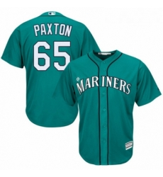 Youth Majestic Seattle Mariners 65 James Paxton Replica Teal Green Alternate Cool Base MLB Jersey