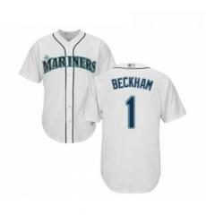 Youth Seattle Mariners 1 Tim Beckham Replica White Home Cool Base Baseball Jersey