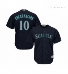 Youth Seattle Mariners 10 Edwin Encarnacion Replica Navy Blue Alternate 2 Cool Base Baseball Jersey