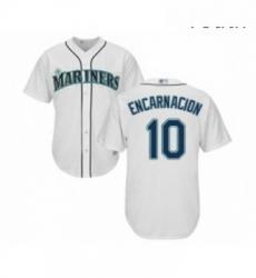 Youth Seattle Mariners 10 Edwin Encarnacion Replica White Home Cool Base Baseball Jersey