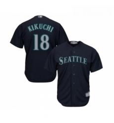 Youth Seattle Mariners 18 Yusei Kikuchi Replica Navy Blue Alternate 2 Cool Base Baseball Jersey