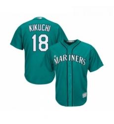 Youth Seattle Mariners 18 Yusei Kikuchi Replica Teal Green Alternate Cool Base Baseball Jersey