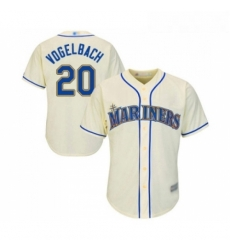 Youth Seattle Mariners 20 Dan Vogelbach Replica Cream Alternate Cool Base Baseball Jersey