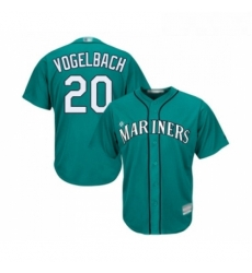 Youth Seattle Mariners 20 Dan Vogelbach Replica Teal Green Alternate Cool Base Baseball Jersey