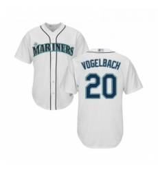 Youth Seattle Mariners 20 Dan Vogelbach Replica White Home Cool Base Baseball Jersey