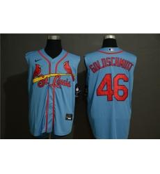 Cardinals 46 Paul Goldschmidt Light Blue Nike Cool Base Sleeveless Jersey