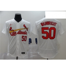 Cardinals 50 Adam Wainwright White 2020 Nike Flexbase Jersey