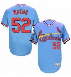 Mens Majestic St Louis Cardinals 52 Michael Wacha Light Blue FlexBase Authentic Collection MLB Jersey