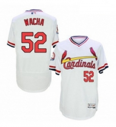 Mens Majestic St Louis Cardinals 52 Michael Wacha White Flexbase Authentic Collection Cooperstown MLB Jersey