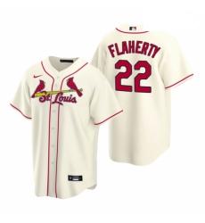 Men's Nike St. Louis Cardinals #22 Jack Flaherty Cream Alternate Stitched Baseball Jersey