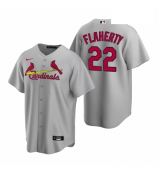 Men's Nike St. Louis Cardinals #22 Jack Flaherty Gray Road Stitched Baseball Jersey