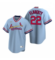 Men's Nike St. Louis Cardinals #22 Jack Flaherty Light Blue Cooperstown Collection Road Stitched Baseball Jersey