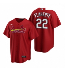 Men's Nike St. Louis Cardinals #22 Jack Flaherty Red Alternate Stitched Baseball Jersey