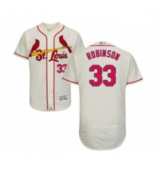 Mens St Louis Cardinals 33 Drew Robinson Cream Alternate Flex Base Authentic Collection Baseball Jersey