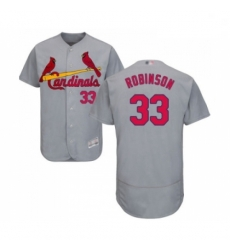 Mens St Louis Cardinals 33 Drew Robinson Grey Road Flex Base Authentic Collection Baseball Jersey