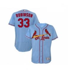 Mens St Louis Cardinals 33 Drew Robinson Light Blue Alternate Flex Base Authentic Collection MLB Jersey