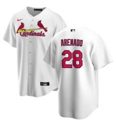 Men's St. Louis Cardinals Nolan Arenado White Jersey Home Cool Base