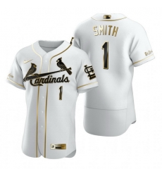 St. Louis Cardinals 1 Ozzie Smith White Nike Mens Authentic Golden Edition MLB Jersey