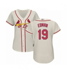 Women's St. Louis Cardinals #19 Tommy Edman Authentic Cream Alternate Cool Base Baseball Player Jersey
