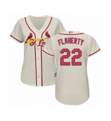 Women's St. Louis Cardinals #22 Jack Flaherty Authentic Cream Alternate Cool Base Baseball Player Jersey