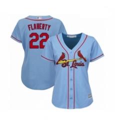 Women's St. Louis Cardinals #22 Jack Flaherty Authentic Light Blue Alternate Cool Base Baseball Player Jersey