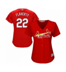 Women's St. Louis Cardinals #22 Jack Flaherty Authentic Red Alternate Cool Base Baseball Player Jersey