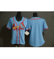 Cardinals Blank Women Light Blue Flexbase Jersey