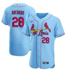 Youth St. Louis Cardinals Nolan Arenado Blue Jersey Home Flex Base