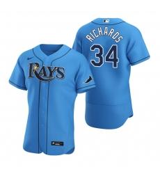 Men Tampa Bay Rays 34 Trevor Richards Men Nike Light Blue Alternate 2020 Flex Base Player MLB Jersey