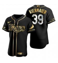 Men Tampa Bay Rays 39 Kevin Kiermaier Black Gold 2020 Nike Flexbase Jersey