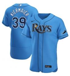 Men Tampa Bay Rays 39 Kevin Kiermaier Men Nike Light Blue Alternate 2020 Flex Base Player MLB Jersey