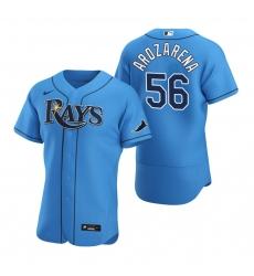 Men Tampa Bay Rays 56 Randy Arozarena Men Nike Light Blue Alternate 2020 Flex Base Player MLB Jersey