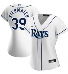 Tampa Bay Rays 39 Kevin Kiermaier Nike Women Home 2020 MLB Player Jersey White
