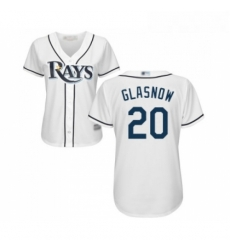 Womens Tampa Bay Rays 20 Tyler Glasnow Replica White Home Cool Base Baseball Jersey